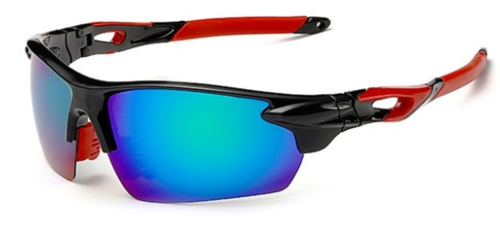 Cricket Sunglasses UV Protected (Black Blue Red)