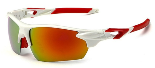 Cricket Sunglasses UV Protected (White Red)
