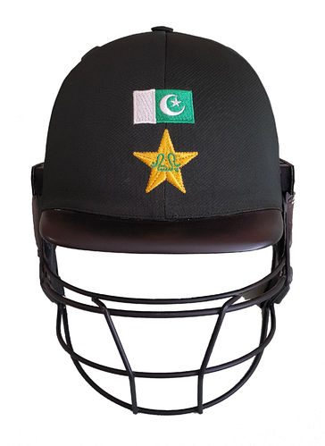 Pakistani Flag Cricket Helmet