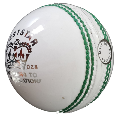 CA Test Star White Cricket Ball (6 Pack)